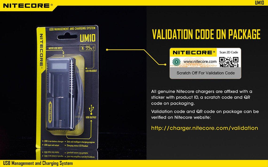 nitecore um10 vape charger